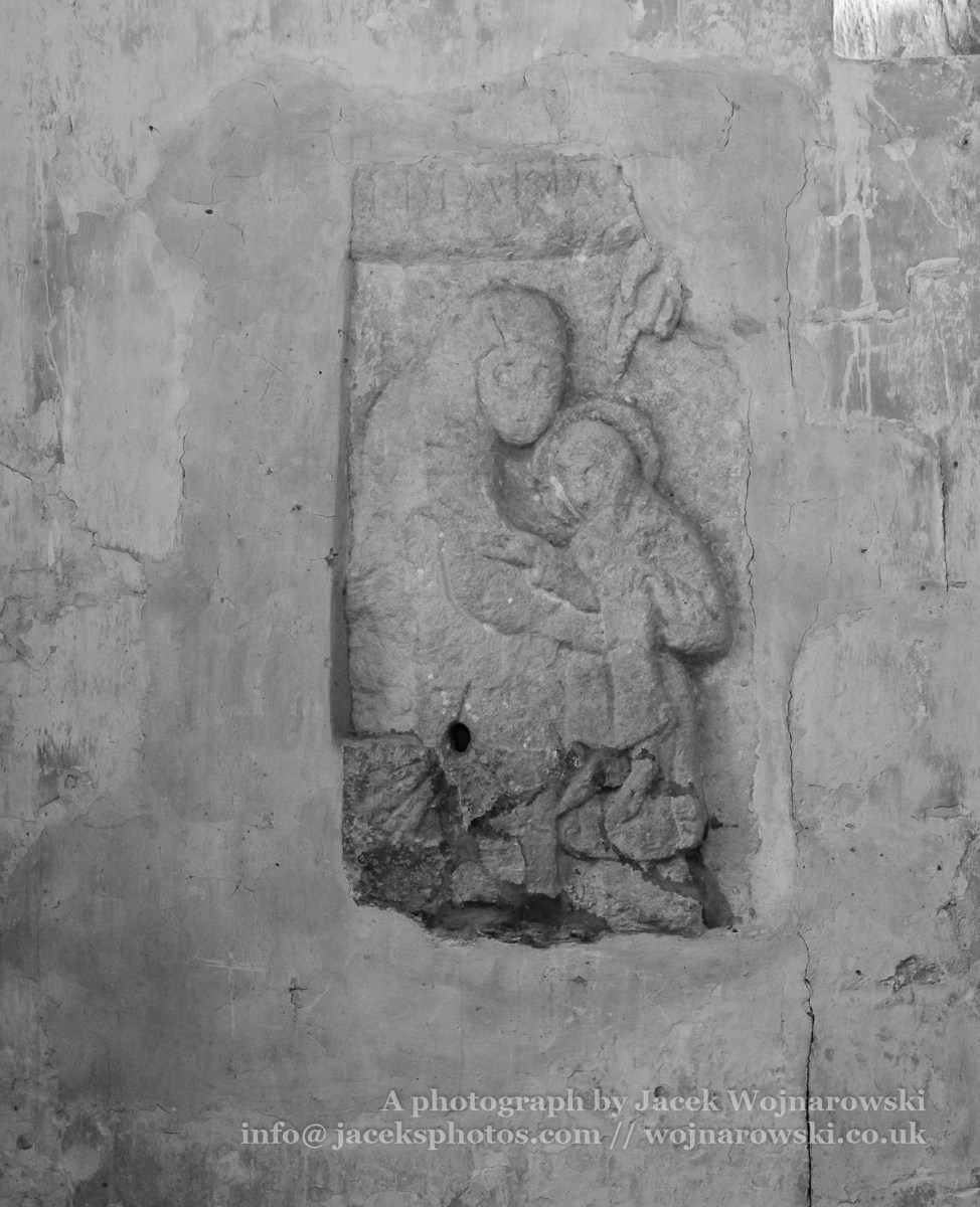 St John the Baptist Church Anglo-Saxon carving of the Mother and Child
