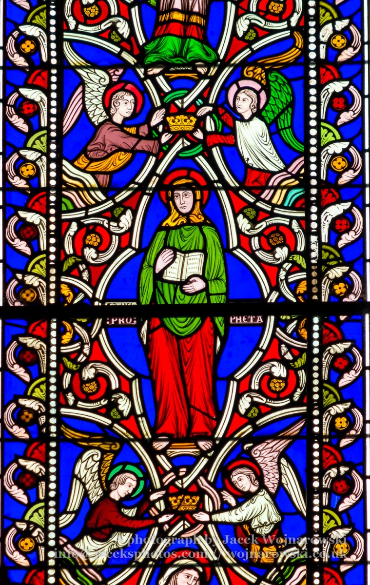 Stained Glass in Worcester Cathedral - The Queen Adelaide Window close up F