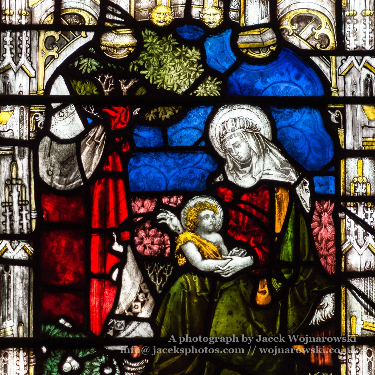 Bath Abbey Perpendicular Gothic Window Close up D Stained Glass