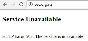 cec website offline