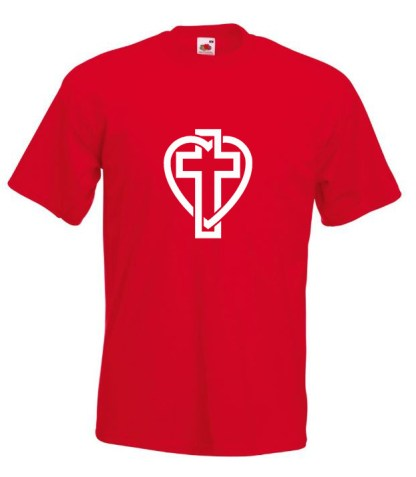 Cross In Heart Red T-shirt