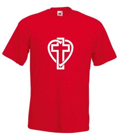 Cross In Heart Red T-shirt