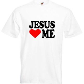 Jesus Loves Me White T-shirt