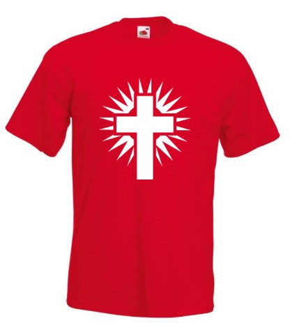 Shining Cross Red TShirt