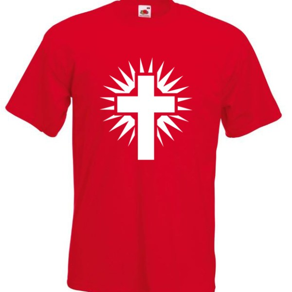 Shining Cross Red TShirt