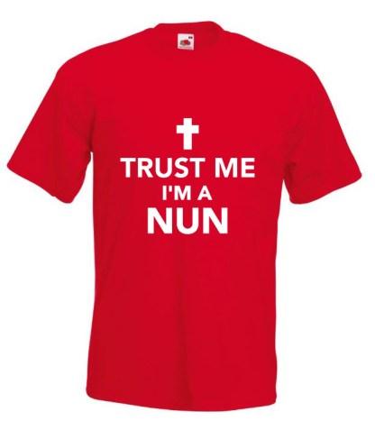 Trust Me Im A Nun Red TShirt