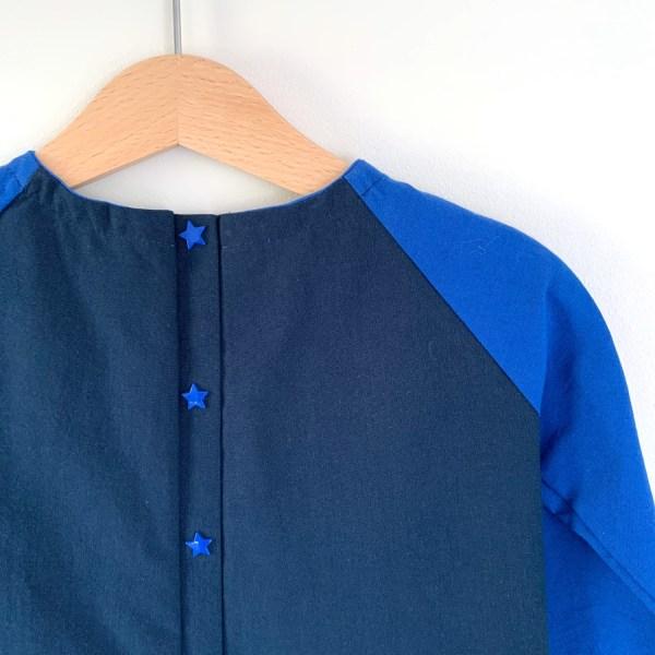 Détails du dos de la blouse