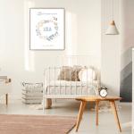 Affiche Naissance à personnaliser pour une chambre d'enfant