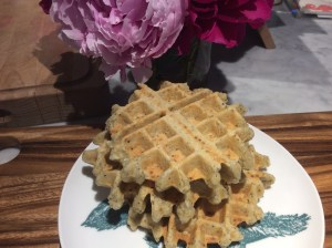 A stack of gluten free waffles
