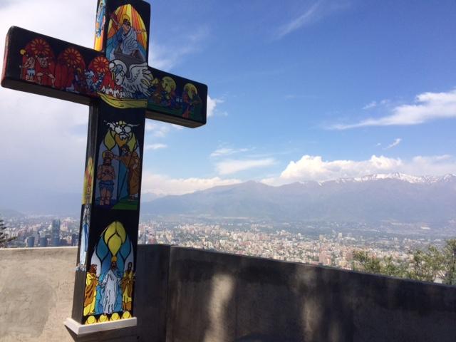 Gorgeous view of Santiago