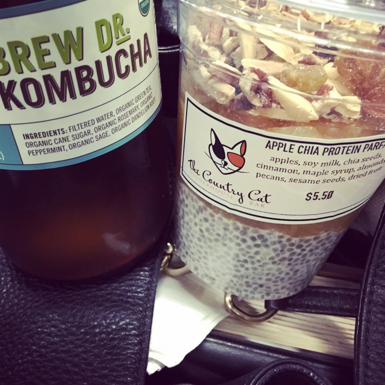 Country Cat Chia Pudding and Kombucha