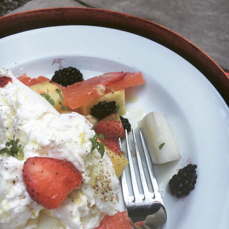 Fruit Salad with Burrata