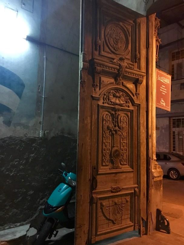 An ancient door.