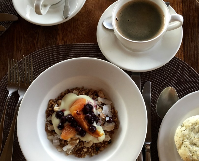 Granola and fruit