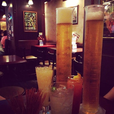 long glass beer