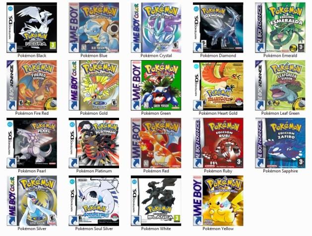 Carátulas de Pokémon