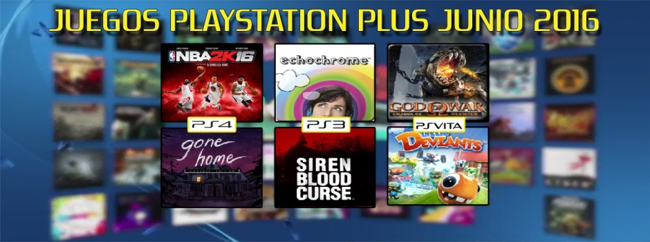 Playstation Plus Junio banner