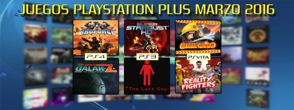 Playstation Plus Marzo 2016 banner