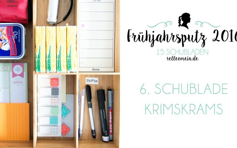 Krimskrams Schublade in der Küche - Frühjahrsputz 2016 - Mehr Ordnung in 15 Schubladen | relleomein.de