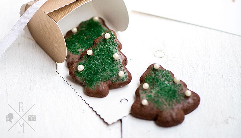 Weihnachtsplätzchen – Schokoweihnachtsbäume
