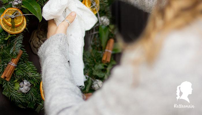 Adventskranz binden - Weihnachtsdeko selber machen | relleomein.de #zerowaste #nachhaltig #weihnachten