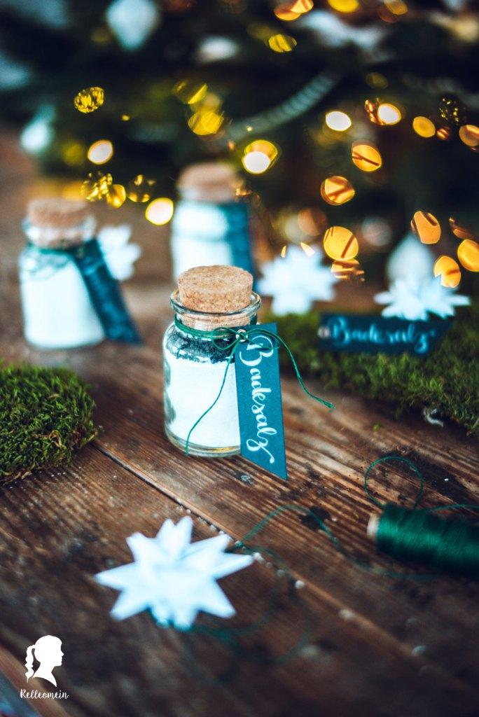 Badesalz selbst gemacht - DIY Weihnachtsgeschenke | relleomein.de #diy #geschenkidee #ätherischeöle