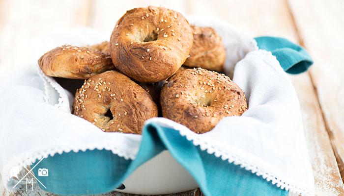 Selbst gebackene Bagels sind köstlich (inkl. Thermomix Variante)
