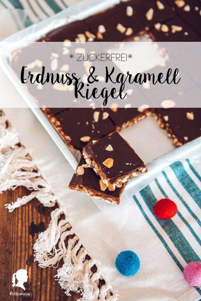 Dattel Karamell & Erdnuss Riegel für Kinder ohne Zucker und Gedöns | relleomein.de #zuckerfrei #vegan #Süßigkeiten #Foodblogger