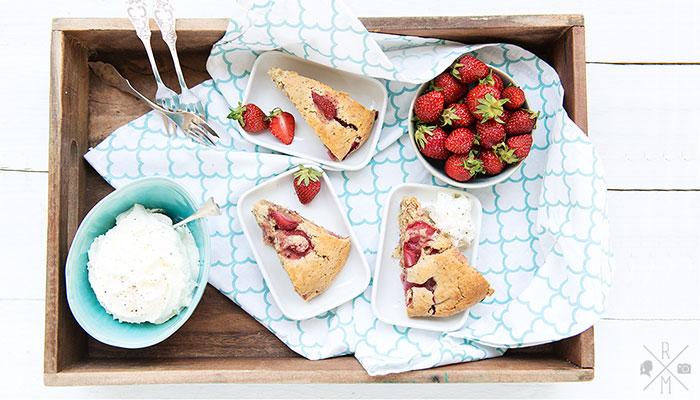 Erdbeer Scones