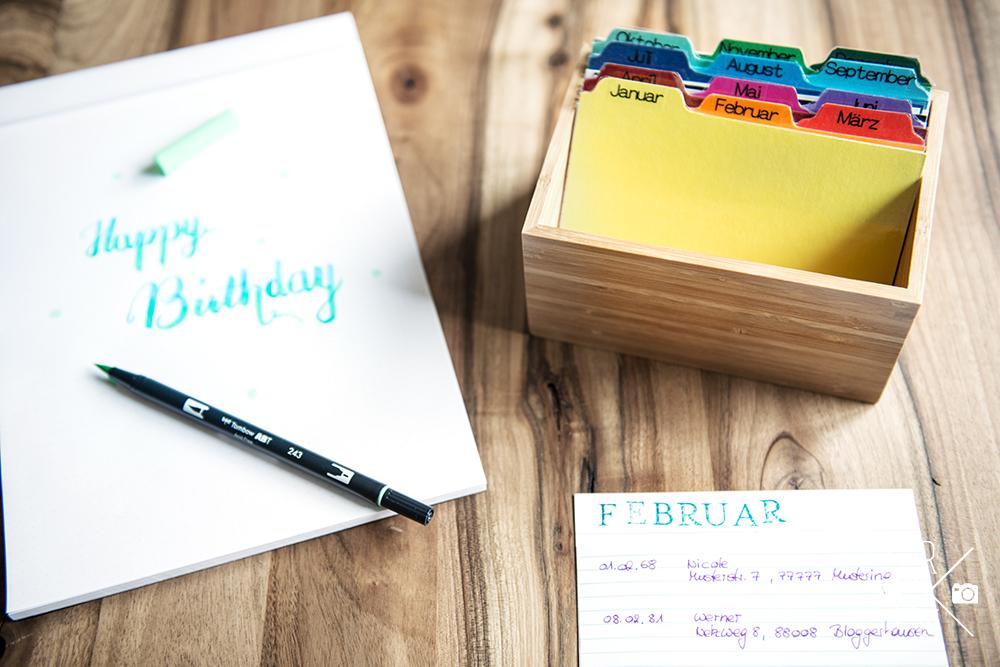 Geburtstagskalender selber machen - Geburtstagskarten Box | relleomein.de