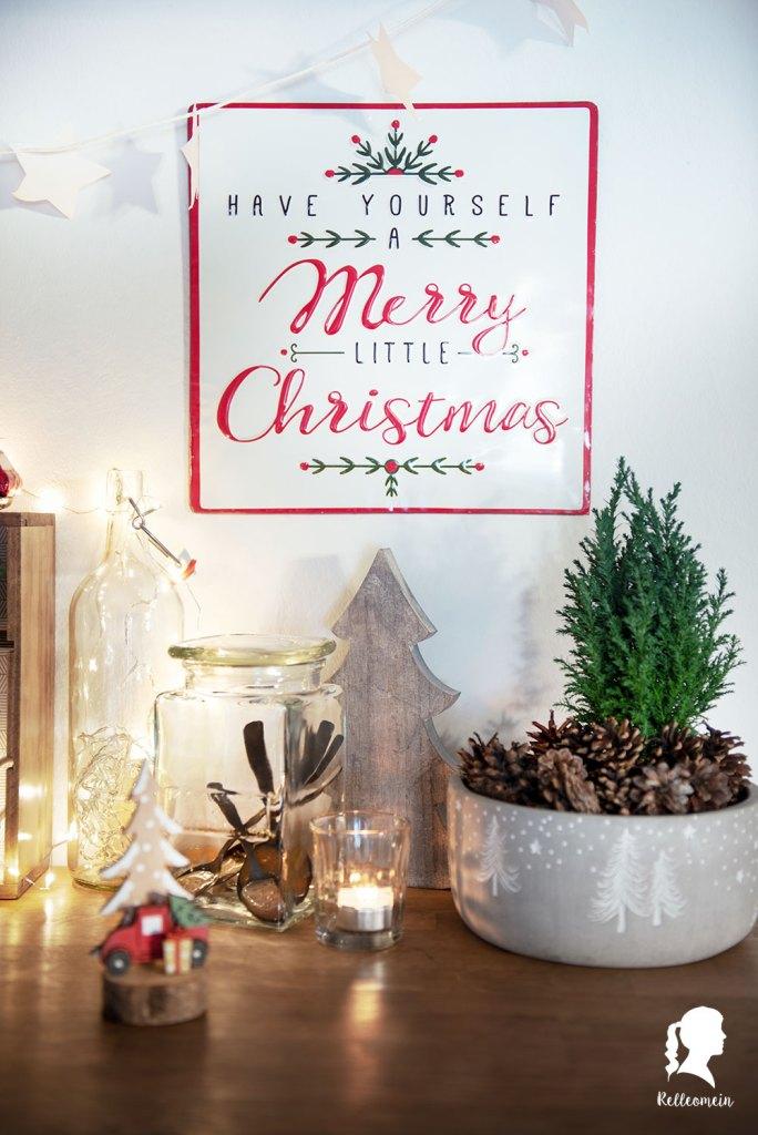 Kakaobar für die Küche - Weihnachtsdekoration - Kakao an Weihnachten | relleomein.de #kakaobar #hotcocoastation #christmas