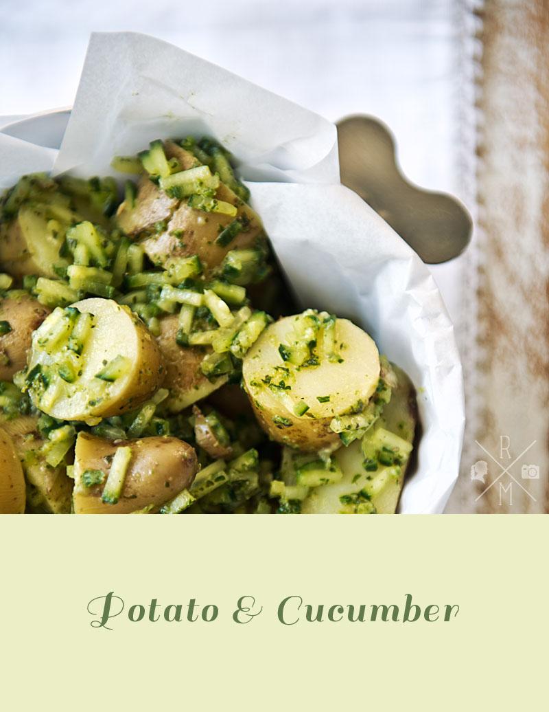 Kartoffelsalat mit Gurke und frischer Minze | relleomein.de