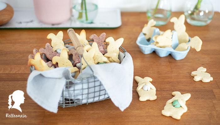 Ostergebäck – Bunte Hasen Kekse