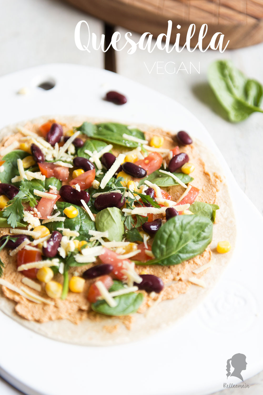 Rezept für vegane Quesadilla mit Hummus | relleomein.de