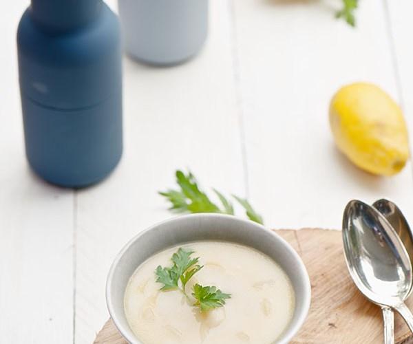 Spargelsuppe mit Weißwein | relleomein.de #vegan #soup
