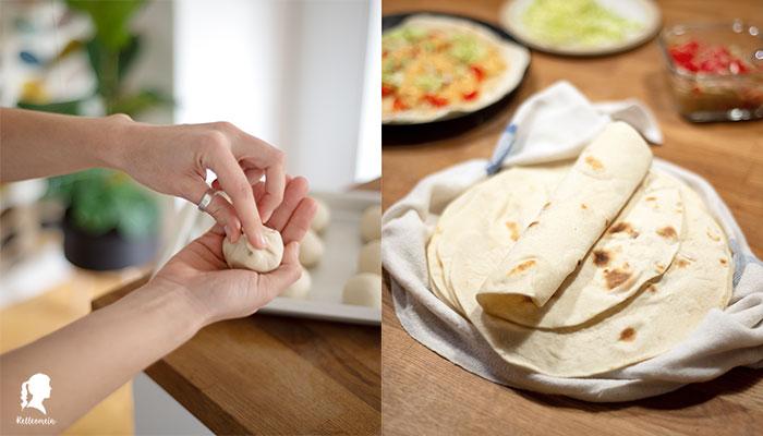 Weiche Weizentortila selbst gemacht mit oder ohne Thermomix | relleomein.de #foodblogger #rezept #tortilla #vegan #thermomix