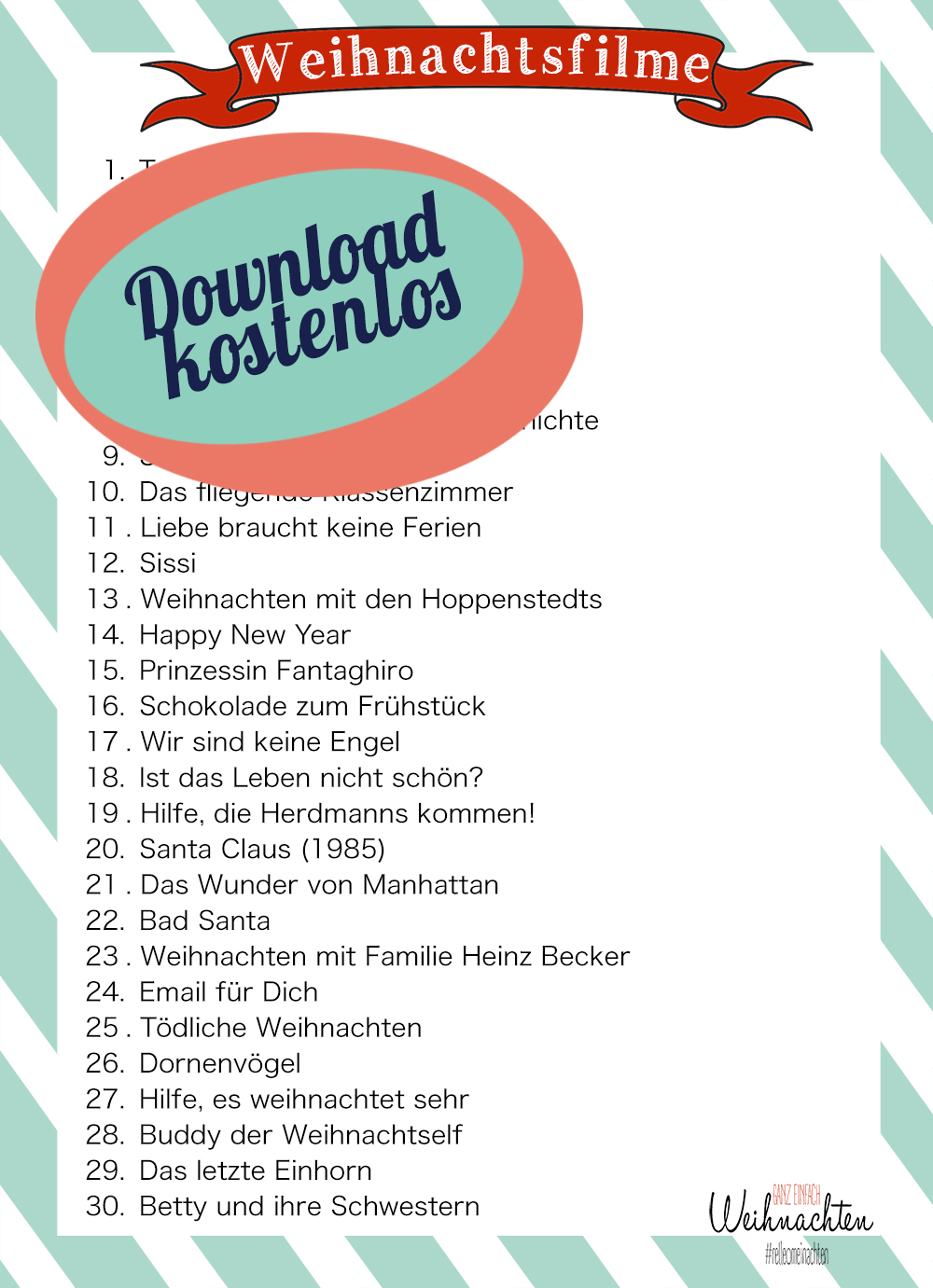 Top 30 Weihnachtsfilme - kostenloser Download Weihnachtsfilmliste | relleomein.de
