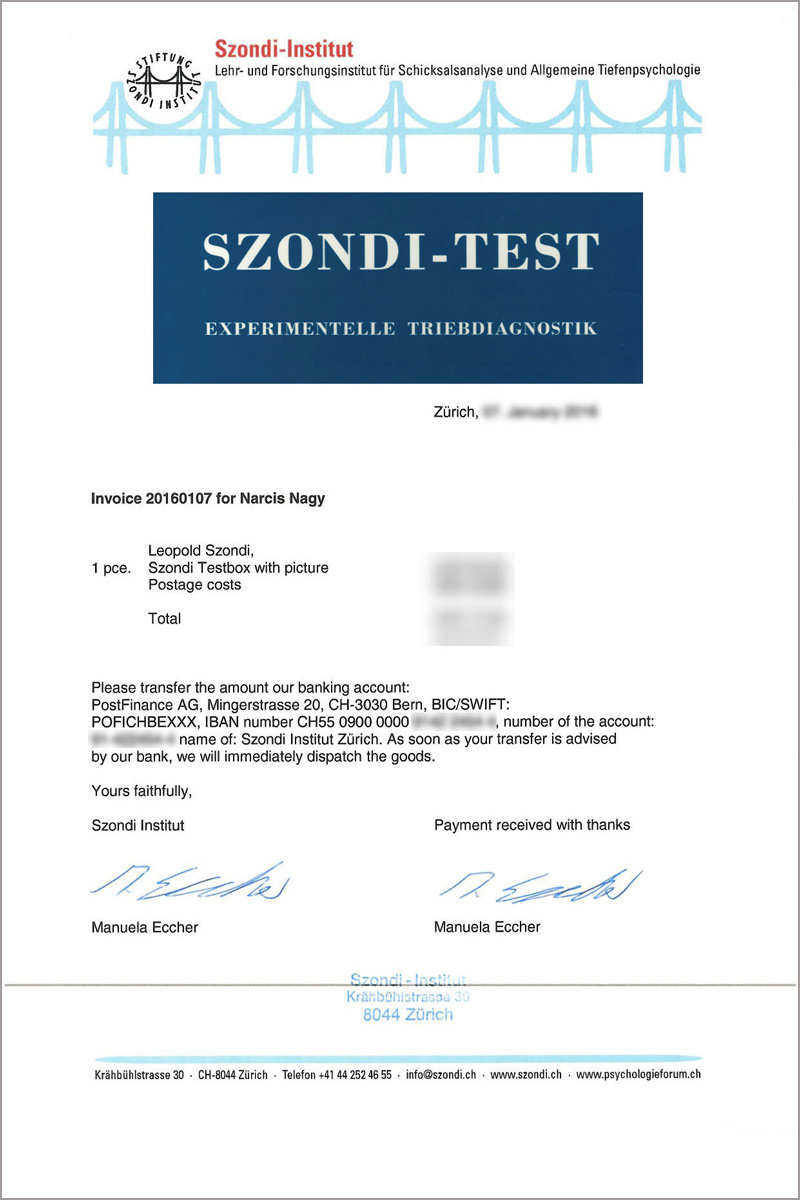 RE-LOAD Career-SZONDI TEST