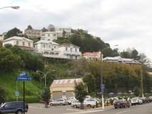 """Blick auf den Bluff Hill - eine """"bessere"""" Wohngegend"""