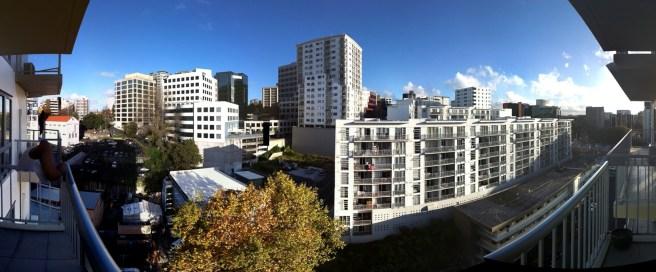 Das letzte Appartement :) Blick vom Balkon zur Queen Street
