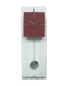 reloj pared pendulo rojo