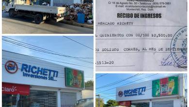 Photo of Empresario Richetti Benjamin aclara que ha sacado la basura sólo cuando tiene autorización del Ayuntamiento
