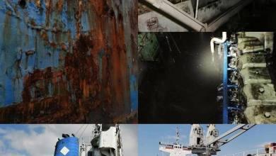 Photo of Barco abandonado podría colapsar con más de 100 mil galones de aceite y gasoil en Bahía de Manzanillo.