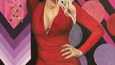 Photo of La actriz española Daniela Santiago inmortalizada en lienzo del pintor Alemán Marco Lux