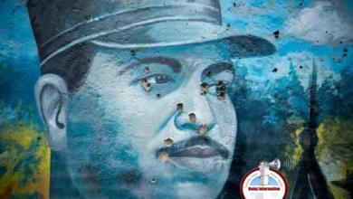 Photo of Desaprensivos dañan mural en honor a Caamaño Deñó con tiros al blanco