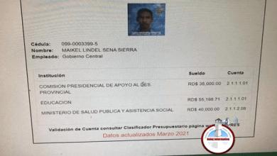 Photo of Dirigente del PRM cobra en tres instituciones diferentes del Estado; sueldo asciende a RD$130,000