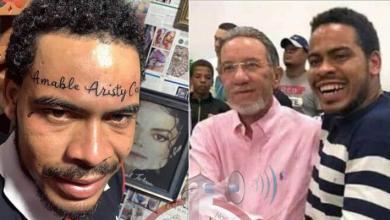Photo of Hombre se tatúa nombre de Amable Aristy Castro en la frente