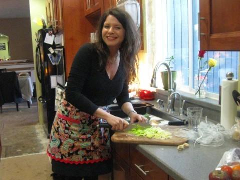 Sandy in kitchen
