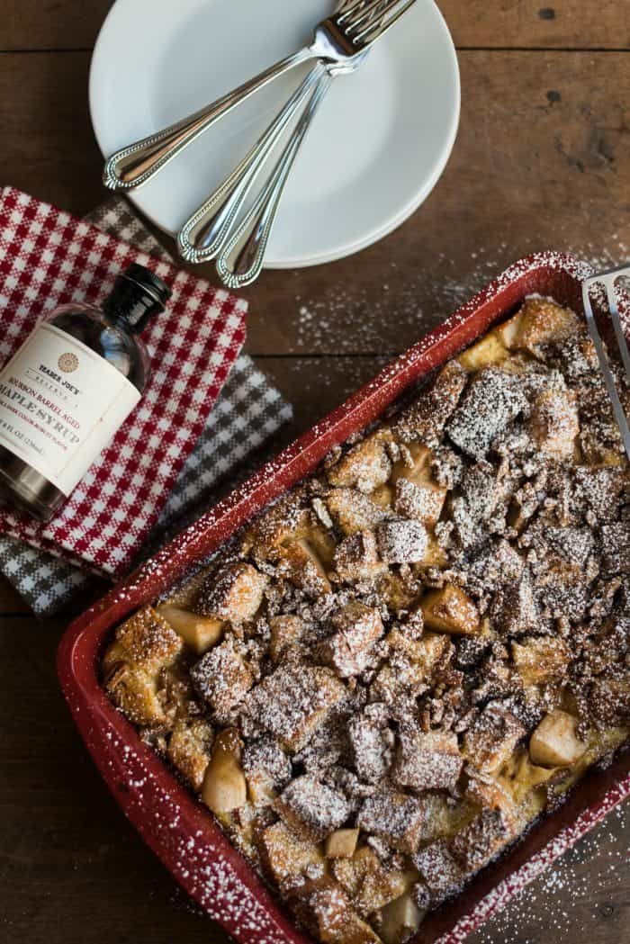 Pear Vanilla French Toast Casserole