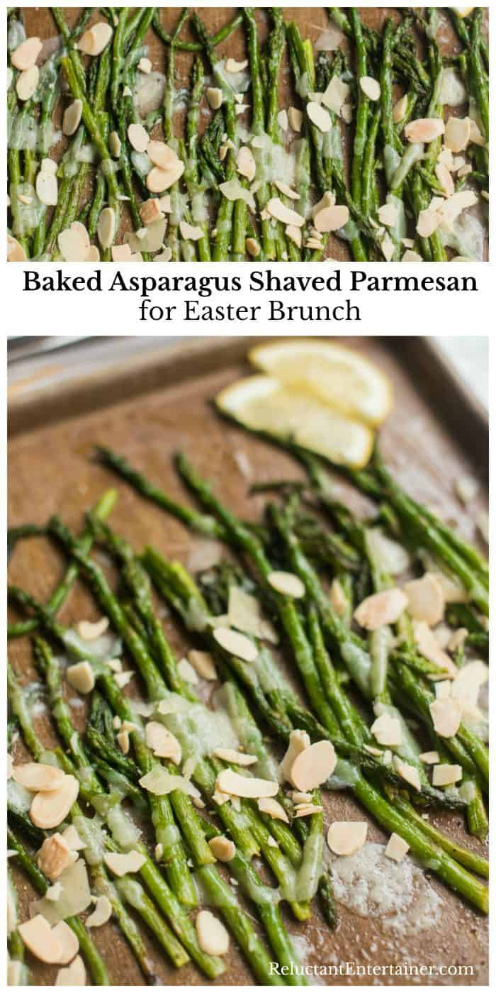 Easy Baked Asparagus Shaved Parmesan for Easter Brunch